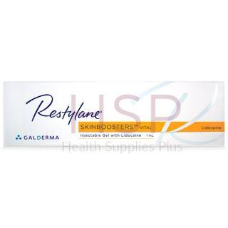 Image of RESTYLANE® SKINBOOSTERS™ VITAL LIGHT w/ Lidocaine box in English